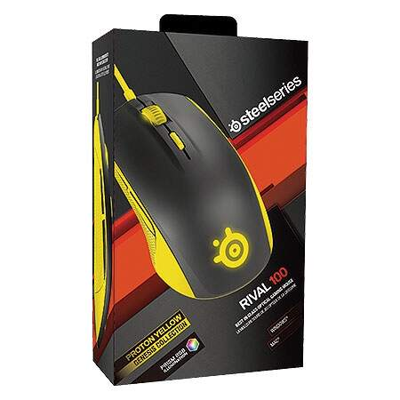 Mouse Steelseries Rival 100 - Pronton Yellow