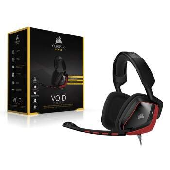 Fone Corsair Void Red Hybrid - 7.1 dolby USB surround - CA-9011144-EU