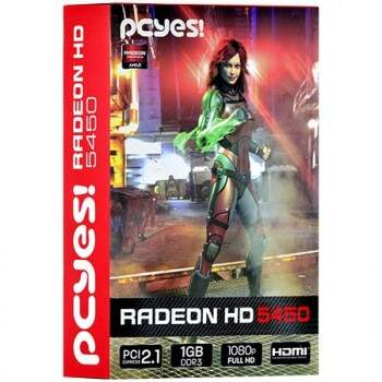 Placa de vídeo AMD Radeon PCYes HD5450 Low Profile 1gb DDR3 64Bits - PHD54506401D3
