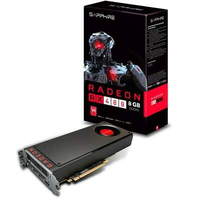 Placa de Video VGA Sapphire AMD RX480 8GB GDDR5 HDMI/TRI DP PCI-Express - 21260-00-20G