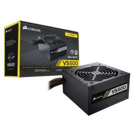 Fonte ATX Corsair VS600 600W Reais 80 Plus White - CP-9020119-LA