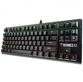 # BLACK NOVEMBER # Teclado Gamer Gamdias Mecânico Hermes E2 Switch Blue c/ Led Rainbow Padrão US