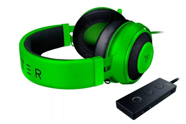 Fone Razer Kraken Tournament Green USB THX Spatial Audio