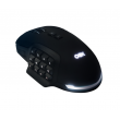 Mouse OEX Gaming Shadow MS314 10.000dpi Preto RGB - 17 botões