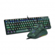 Combo Gamer Redragon Teclado Mecânico Hunter S108 Rainbow e Mouse RGB S108 Light Green