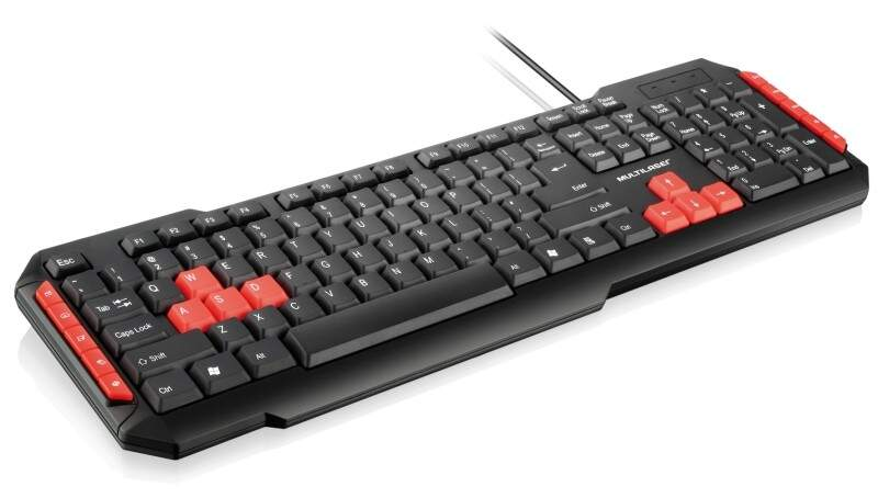 Teclado Multilaser Multimídia Gamer Red TC160 ABNT2