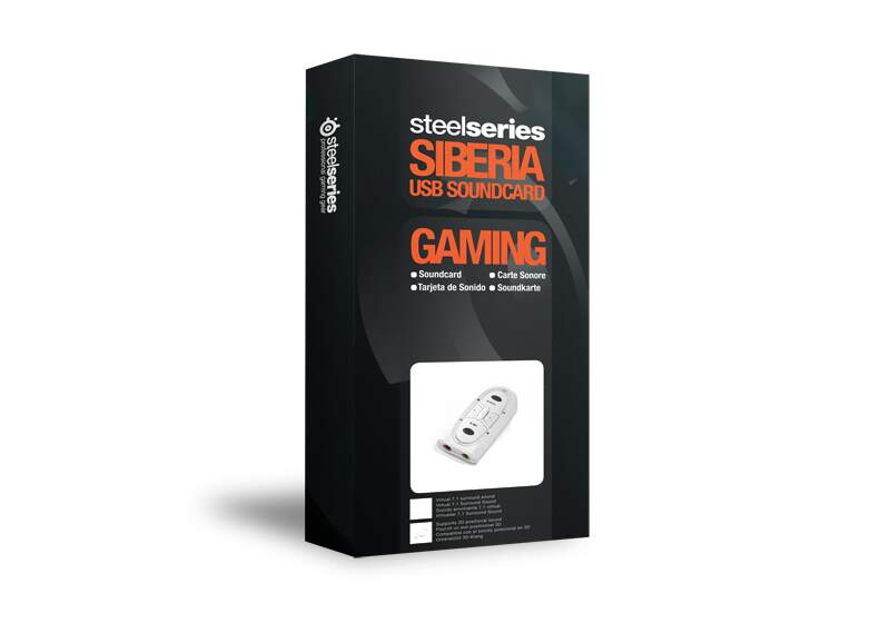 Placa de Som USB 7.1 SteelSeries Siberia White