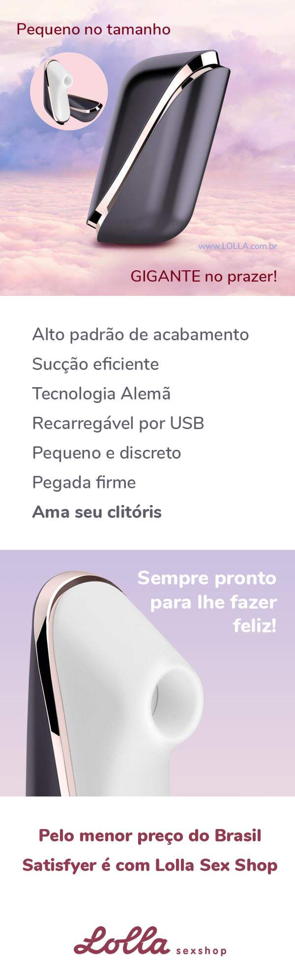 Estimulador de Clitóris Satisfyer Traveler Lolla Sex Shop