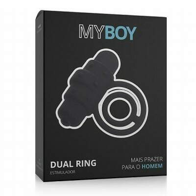 Anel Vibratório My Boy Black Dual Ring
