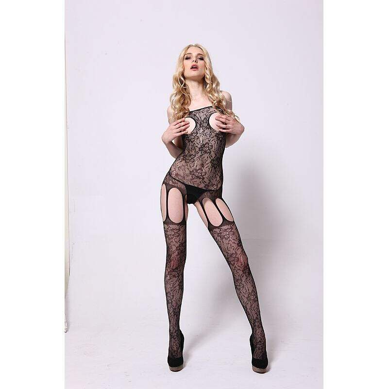 Macacão Rendado Bodystocking Moze