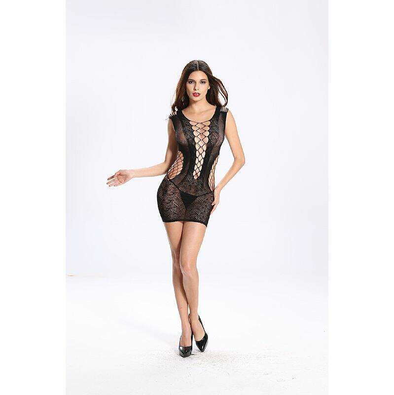 Vestido Rendado Bodystocking Vaquã