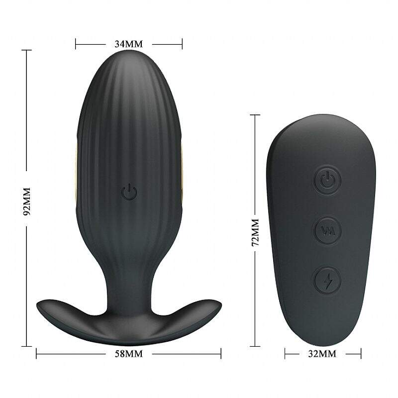 Plug Anal Massageador com Choque - Royal Pleasure - Pretty Love