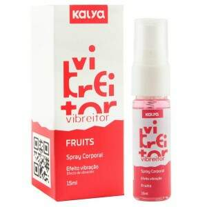 Excitante Eletrizante beijável Vibreitor Fruits - Kalya 15ml
