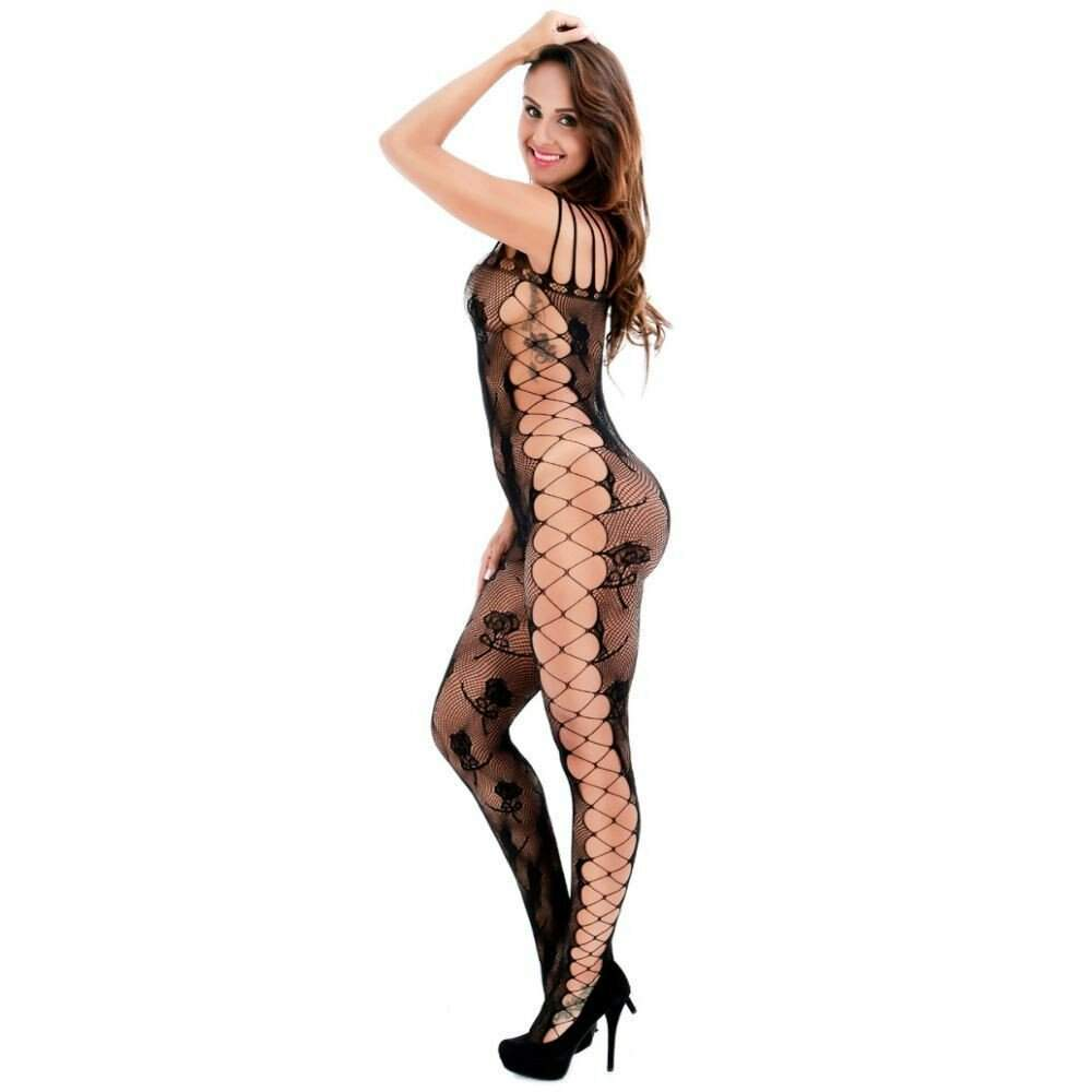 Body Macacão Rendado Bodystocking Iris