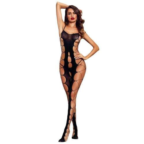 Body Macacão Rendado Bodystocking Xena