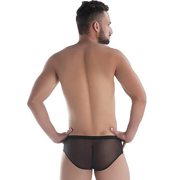 Cueca Sexy Slip Agressive Man Black