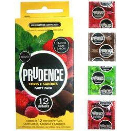 Preservativo cores e sabores Party Pack 12un