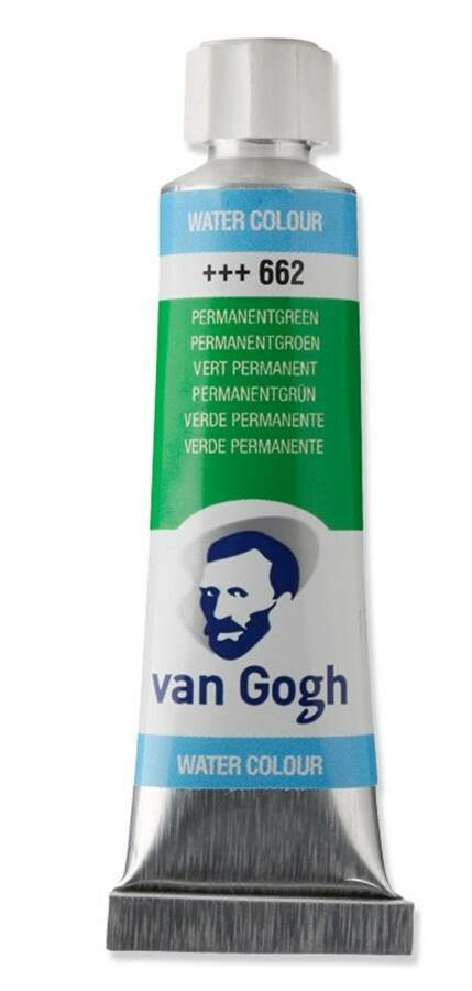 TINTA AQUARELA 10ML 662 PERMANENT GREEN VAN GOGH