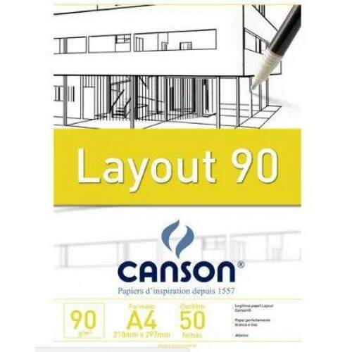 BLOCO LAY OUT A4 90GR 50 FOLHAS CANSON