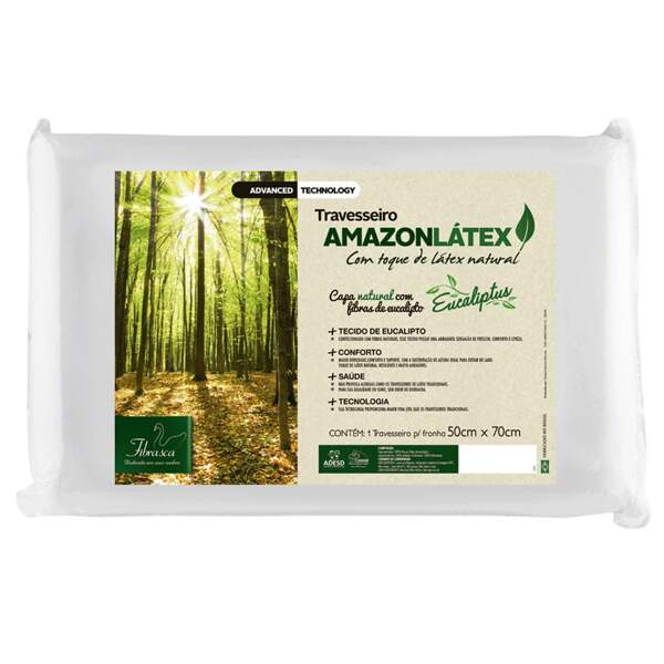 Travesseiro Amazon Látex Alto Fibrasca 4248