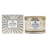 Vela pote vidro decorativo 340g Voluspa New Vermeil Blond Tabac 6819