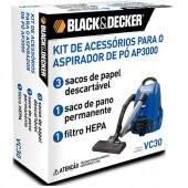 Kit de acessórios para o Aspirador de Pó AP3000 Black&Decker VC30