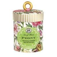 Kit 3 sabonetes em barra Michel Design Works Peony SOAR227