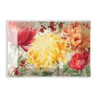 Saboneteira de vidro retangular Michel Design Works Morning Blossoms GSDR279