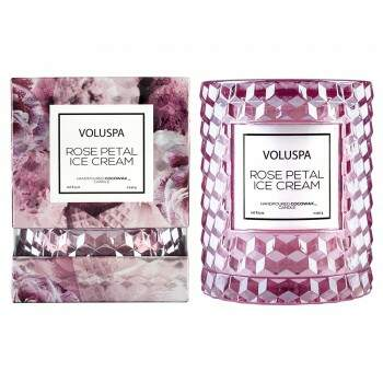 Vela copo redoma Rose Petal Ice Cream 55h Voluspa 5322