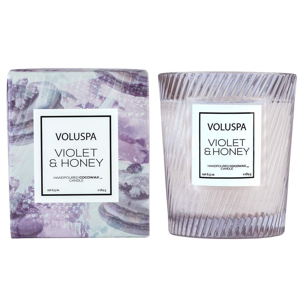 Vela copo Violet&Honey 40h Voluspa 5414
