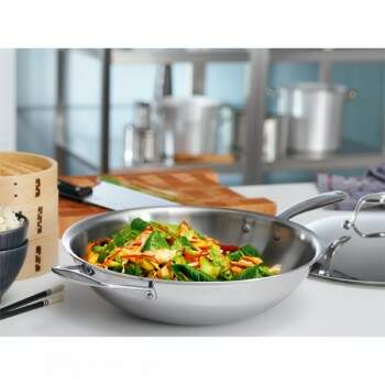 Panela Wok Tramontina Design Collection 62838326 inox 5,10L 32cm.