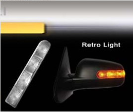 RETRO LIGHT - PISCA P/ RETROVISOR LED AMARELO
