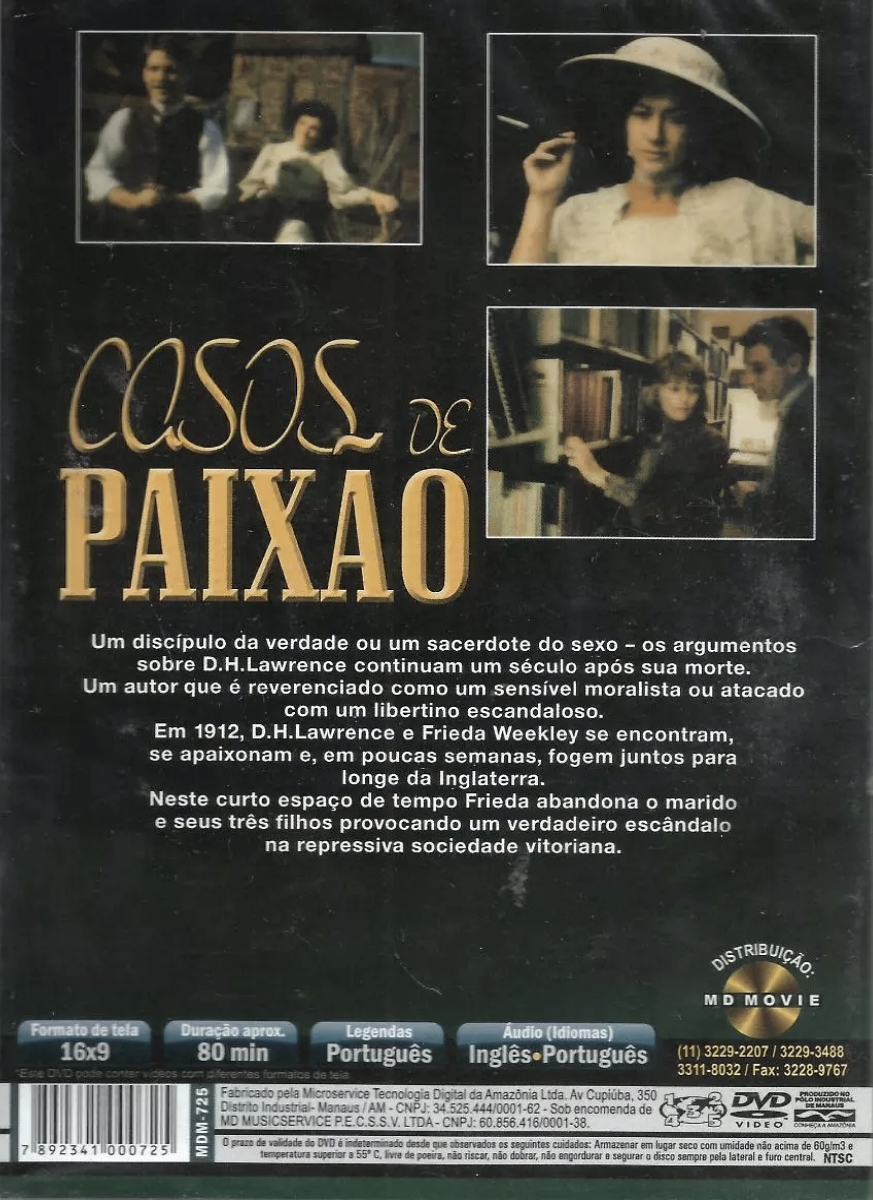 Casos de Paixão - da obra de David H. Lawrence ( Coming Through )