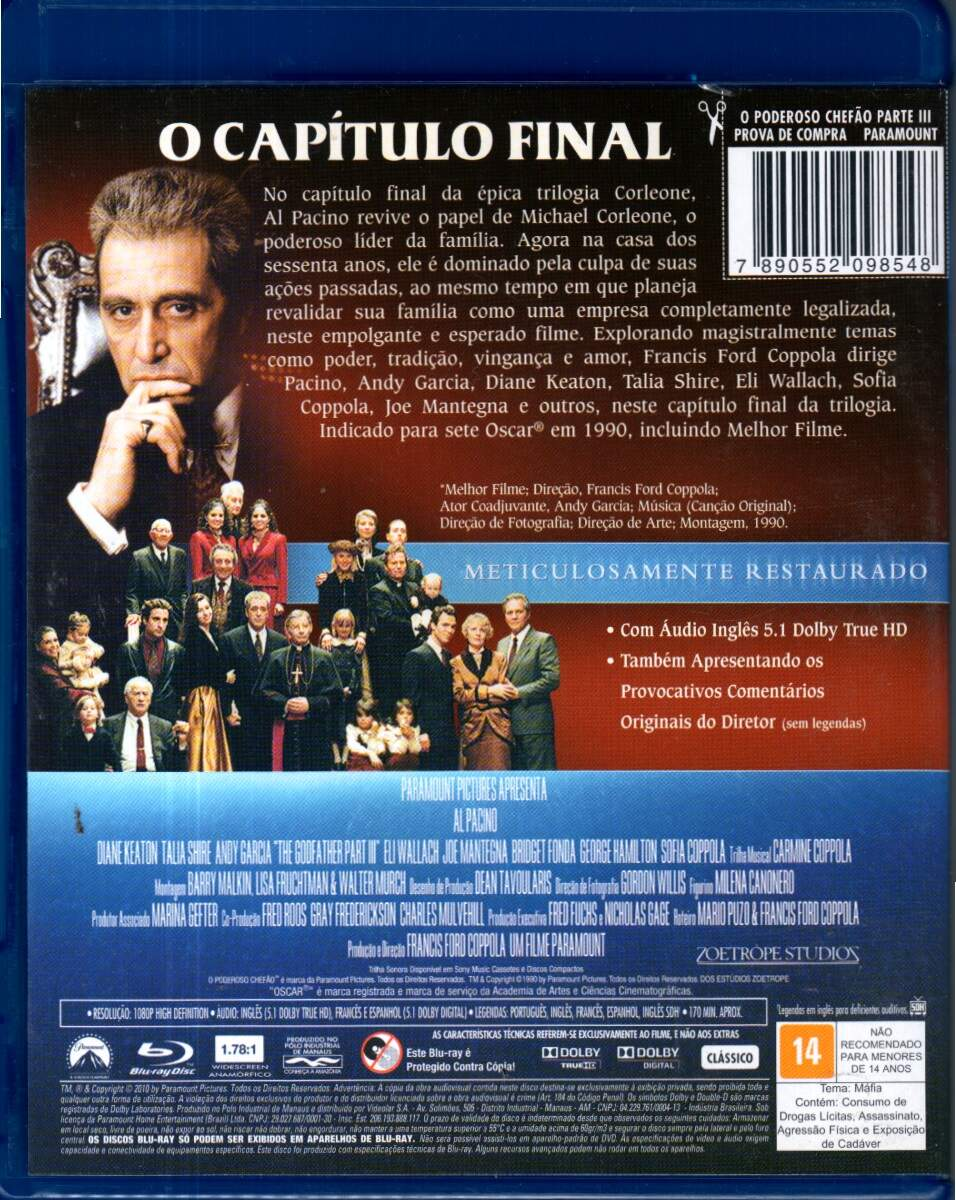 O Poderoso Chefão - Parte 3 - ( The Godfather - Part III )  [ Blu-Ray ]