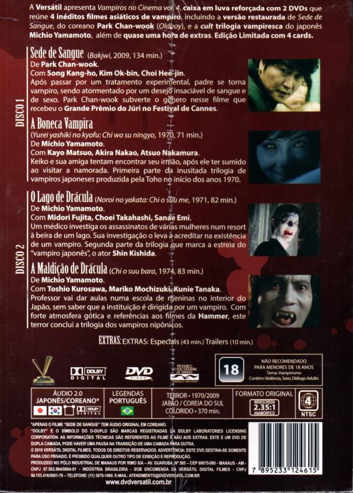 Box Vampiros no Cinema - Volume 4 - 4 Filmes e Cards