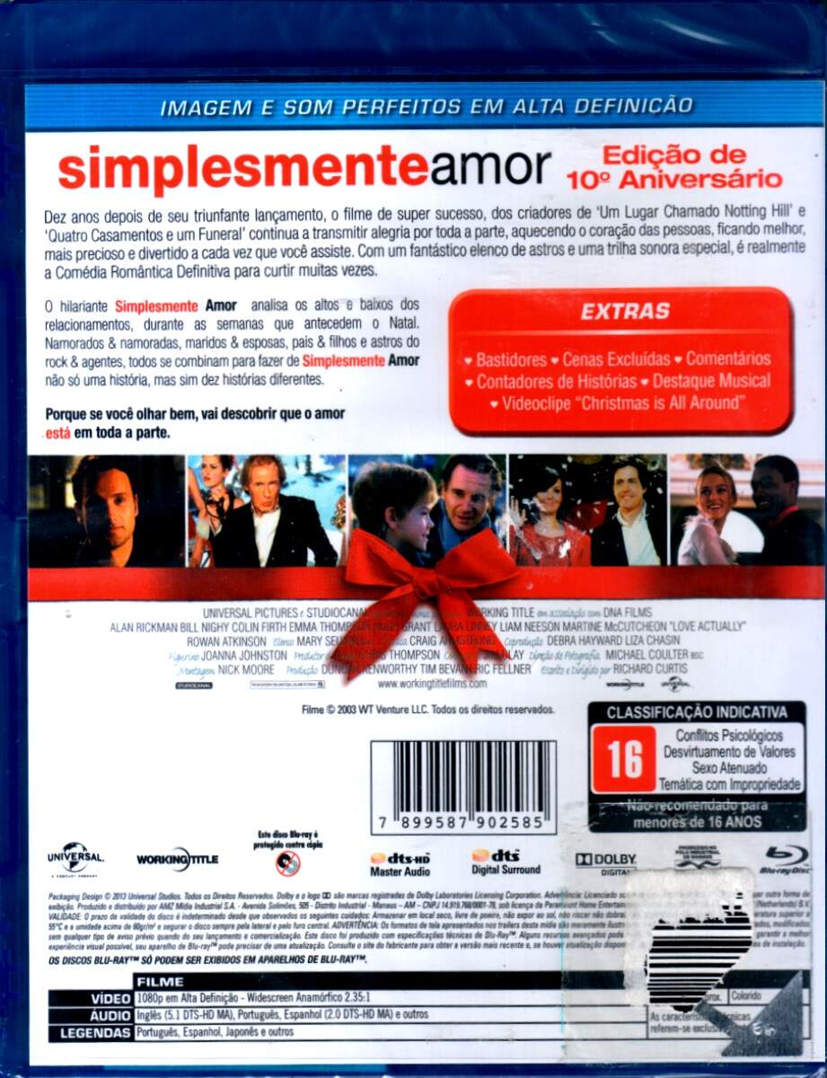Simplesmente Amor - ( Love Actually ) [ Blu-Ray ]