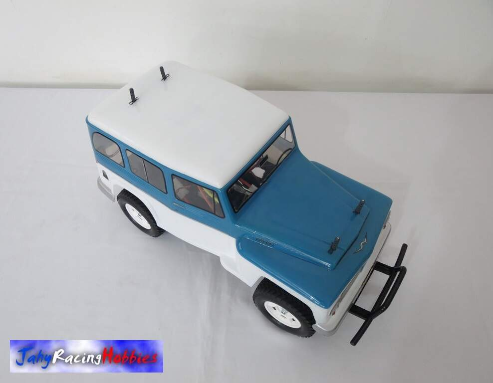 Rural Willys Branco e Azul Celeste CC-01 RTR Tamiya By Jahy