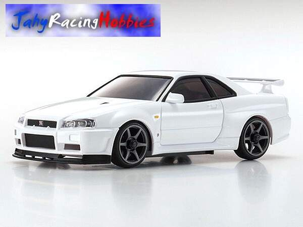 Mini-Z Nissan Skyline GT-R R34 Branco MR-20s Sports Drift RTR Kyosho