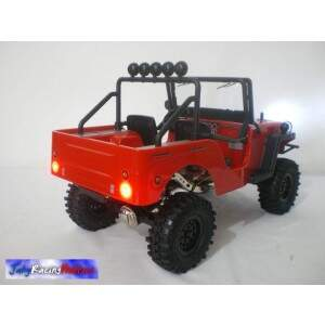 Jeep Willys Sawback 4LS Sports Vermelho e Preto Crawler Gmade By Jahy RTR