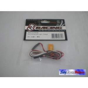 Par de Leds Laranjas 3mm 3 Racing