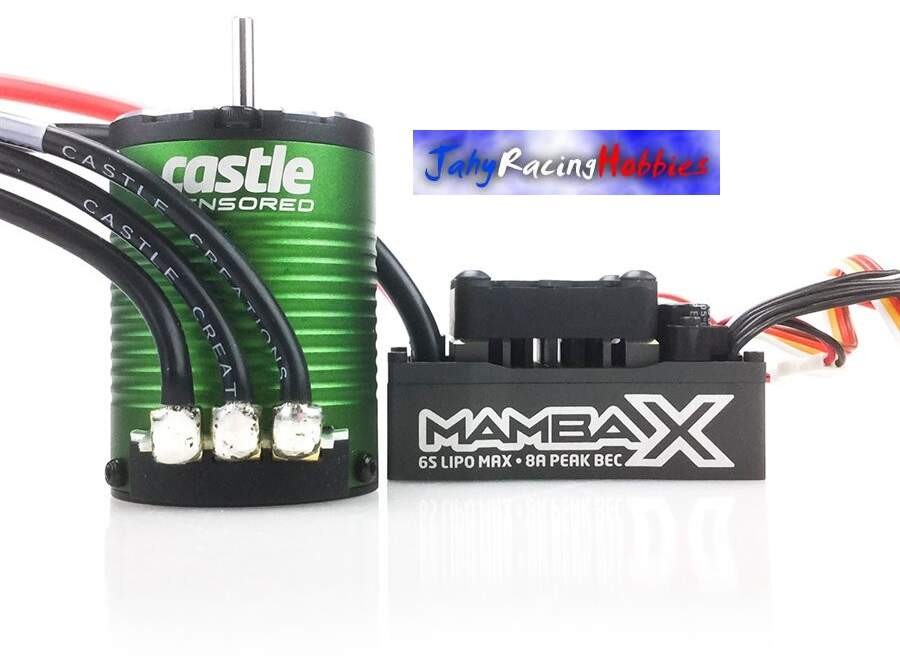 Kit Brushless Mamba X 25.2 WP ESC e Motor 6900kV Neu-Castle 1:10 Castle Creations