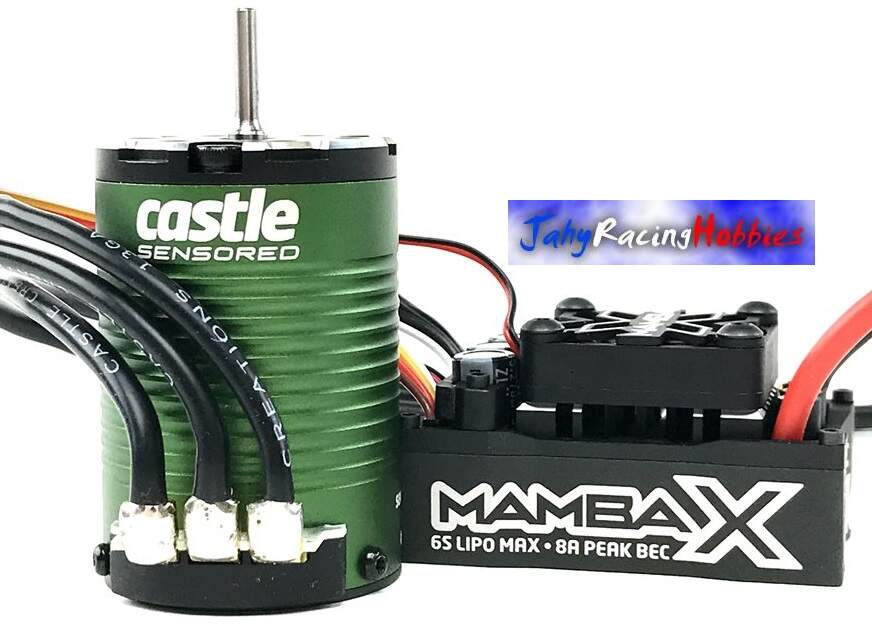 Kit Brushless Mamba X SCT Pro 25.2 WP ESC e Motor 3800kV Eixo 5mm Neu-Castle 1:10 Castle Creations