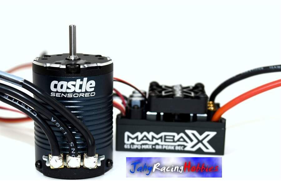Kit Brushless Mamba X Crawler 25.2 WP ESC e Motor 3800kV Neu-Castle 1:10 Castle Creations