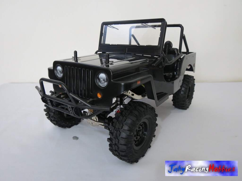 Jeep Willys Sawback 4LS Preto e Preto Fosco Crawler Gmade By Jahy RTR