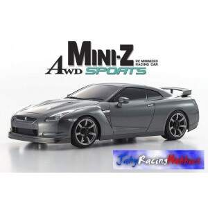 Mini-Z Nissan GT-R R35 SpecV Cinza MR-20s Sports Drift RTR Kyosho
