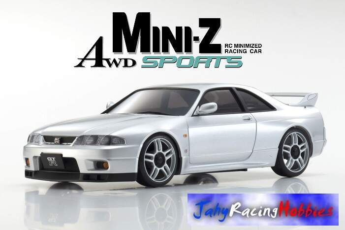 Mini-Z Nissan Skyline GT-R R33 VSpec Prata MR-20s Sports Drift RTR Kyosho