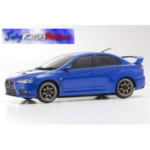Mini-Z Mitsubishi Lancer Evolution X Azul MR-20s Sports Drift RTR Kyosho