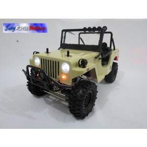Jeep Willys Sawback 4LS Sports Bege Crawler Gmade By Jahy RTR