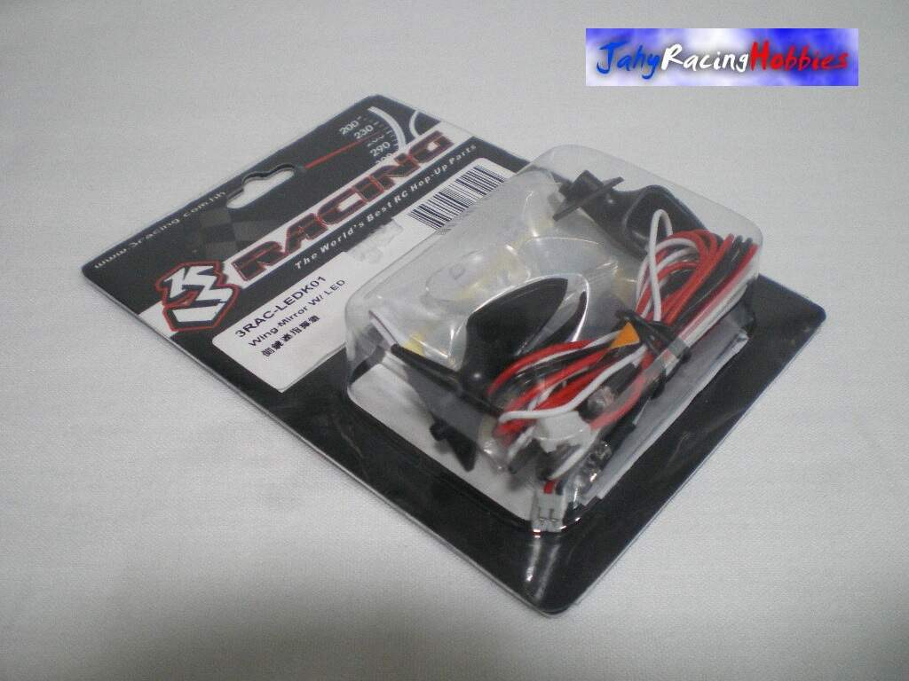 Par de Retrovisores Drift com Leds 3 Racing