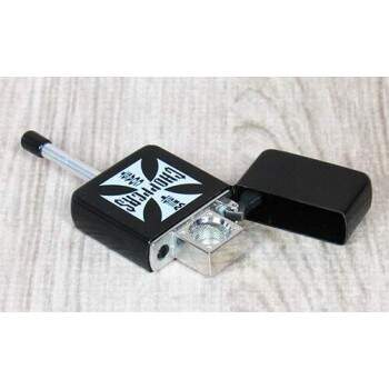 Cachimbo em metal tipo Zippo Choppers